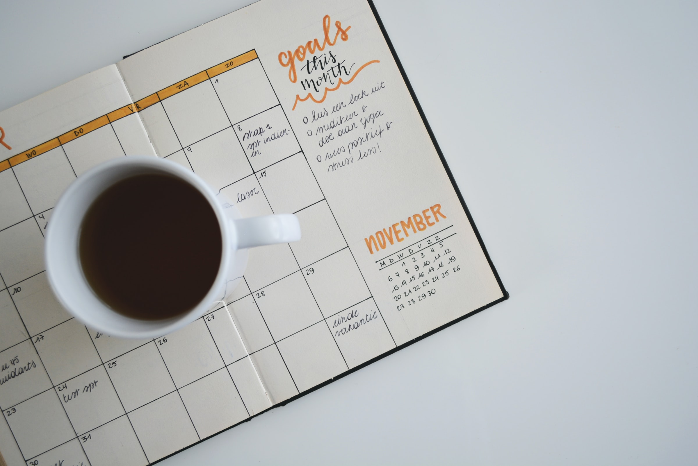 Notebook for scheduling