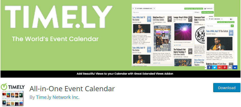 All in one event calendar