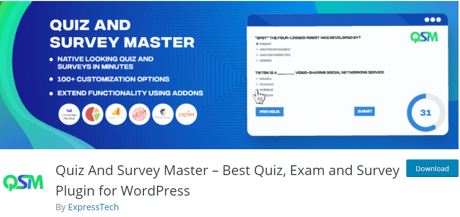 Quiz And Survey Master