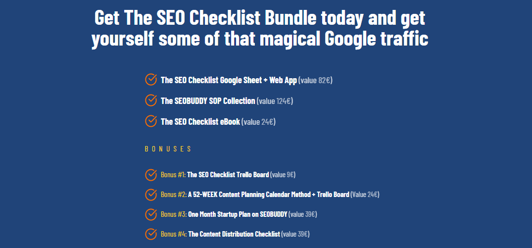 The SEO Checklist package