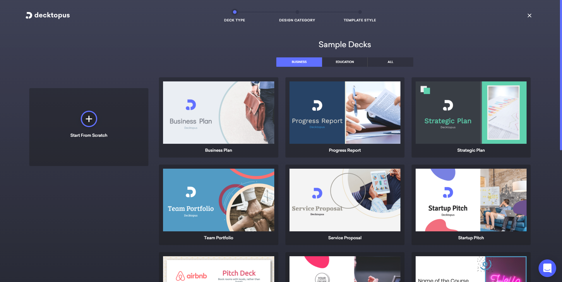 Decktopus templates