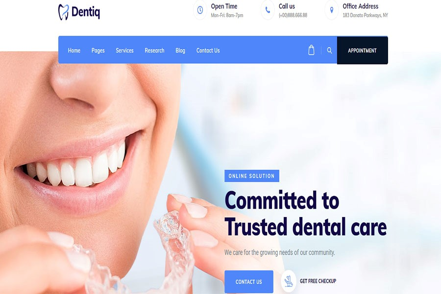Dentiq theme