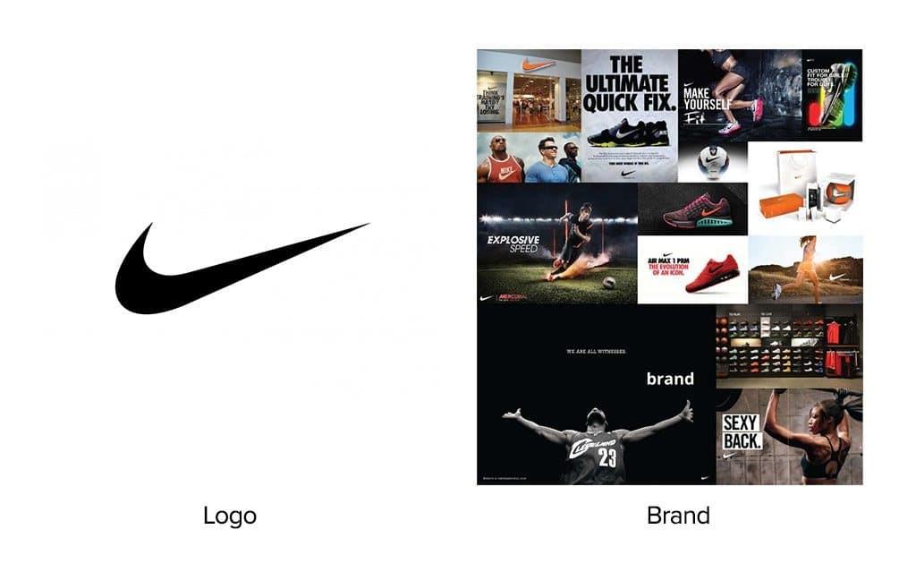 Nike logo vs brand differences