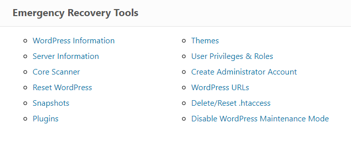List of ERS tools