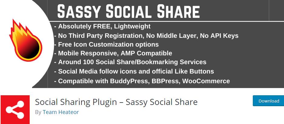 Social Sharing Plugin- Sassy Social Sharing