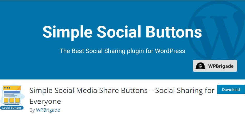 Simple Social Media Share Buttons- Social Sharing for Everyone