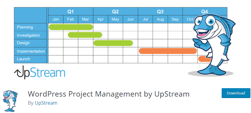 WordPress Project Management by UpStream
