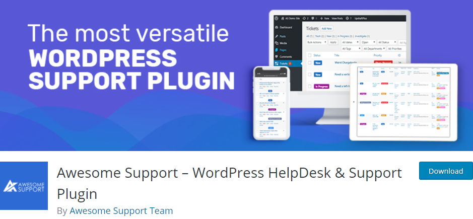 Awesome Support- WordPress HelpDesk & Support Plugin