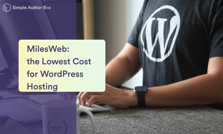 MilesWeb: the Lowest Cost for WordPress Hosting
