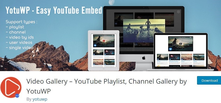 Video Gallery - Youtube Playlist, Channel Gallery by YotuWp
