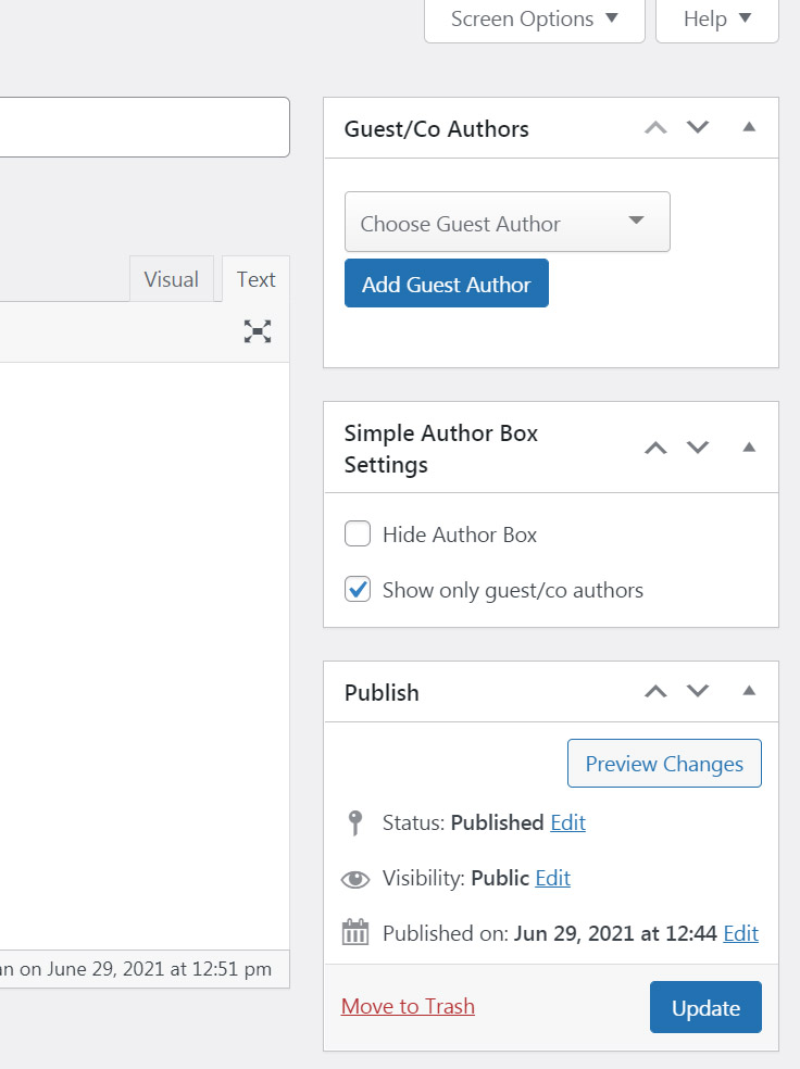 Guest Author options in WordPress