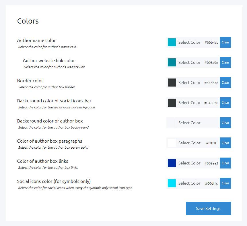 Simple Author Box colors