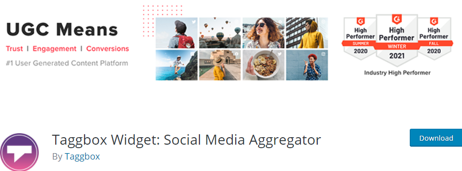 Taggbox Widget: Social Media Aggregator